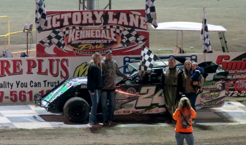 Dean Abbey was the Modified feature winner at Kennedale