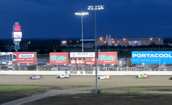 Qualifying night at the Texas Motor Speedway Dirt Track.