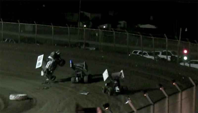 Sprint wreck