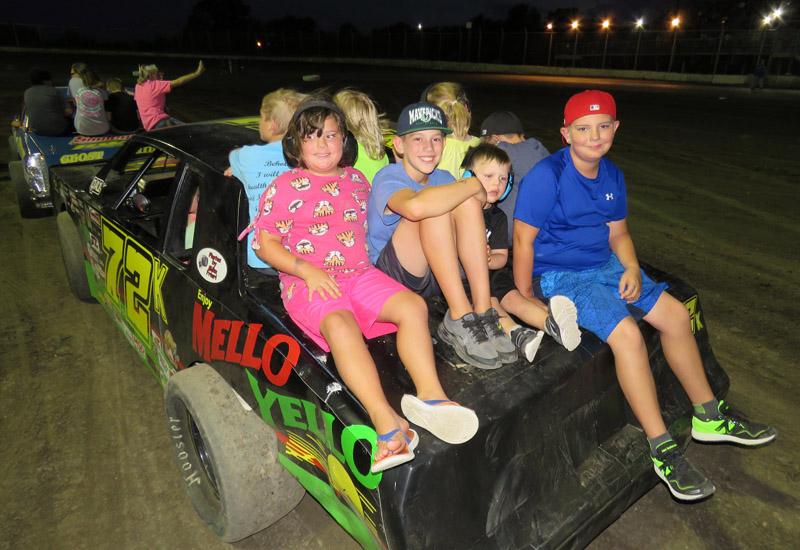 Kids on cars