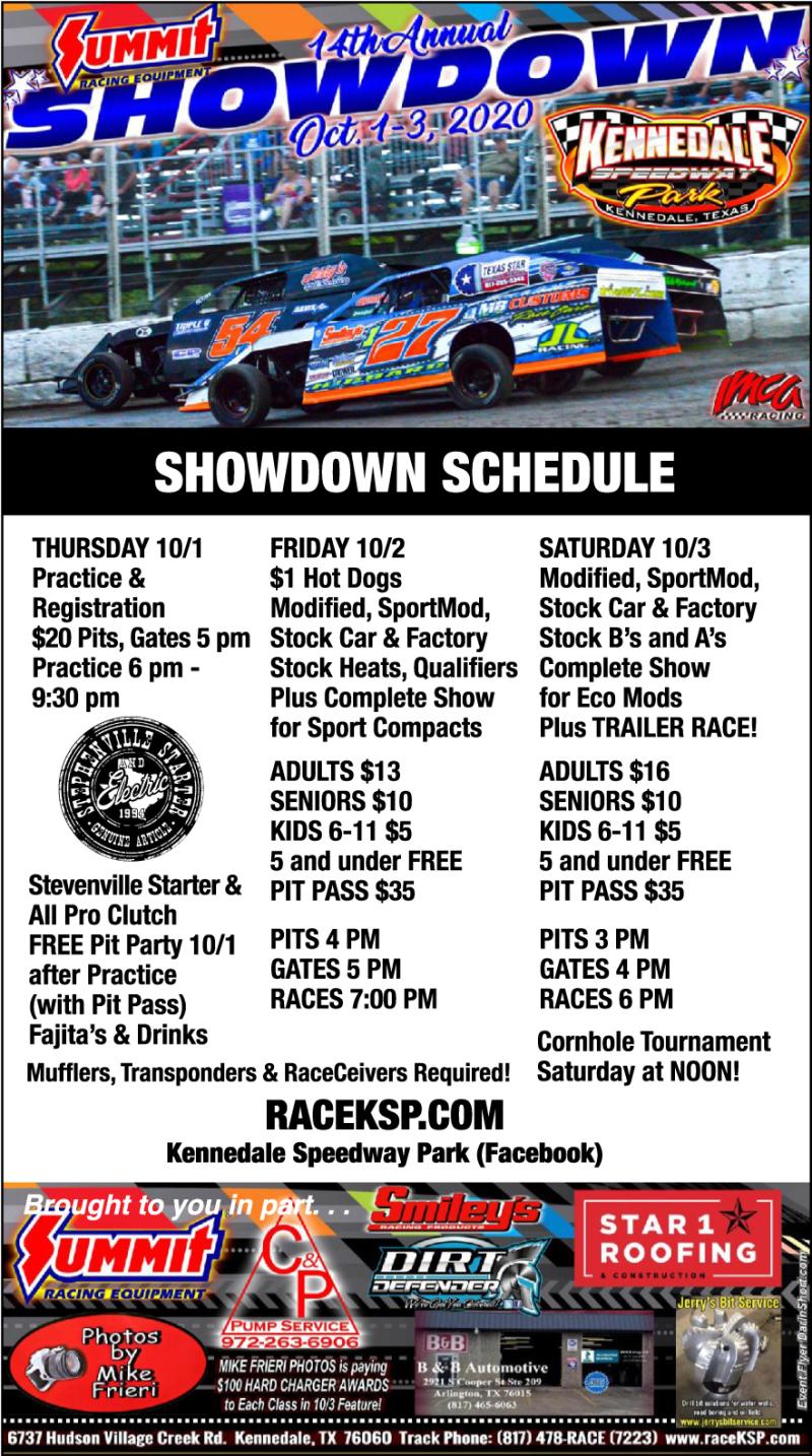 Showndown Schedule